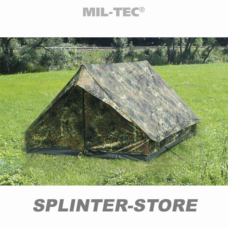 Zweimannzelt Mini Pack flecktarn 2 Personen Zelt Militärzelt Anglerzelt