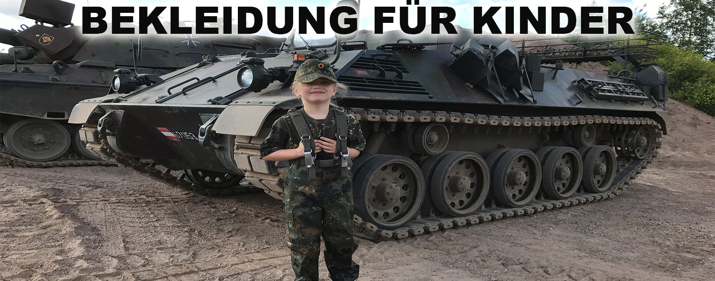 Armeebekleidung für Kinder